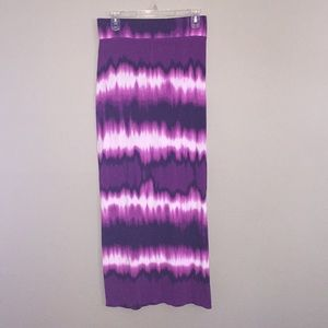 Purple tye-dye Maxi Skirt